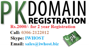 pk domain registration in Pakistan