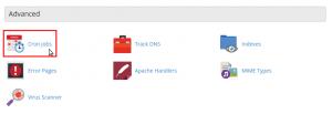 cpanel cron job database backup